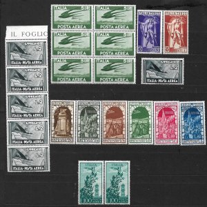 COLLECTION LOT OF # 827 ITALY 22 AIR MAIL MNH/MH STAMPS 1930+ CLEARANCE