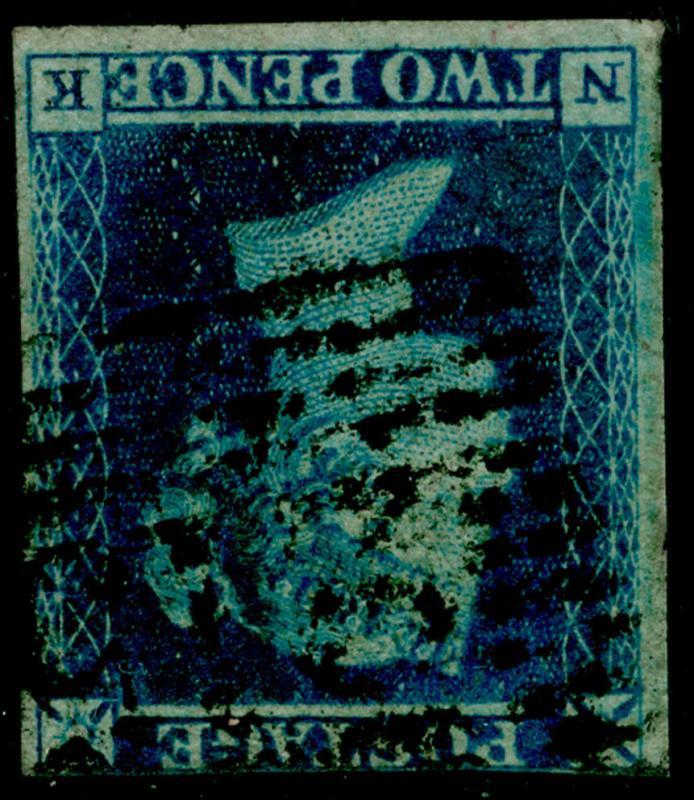SG14Wi, 2d blue, USED. Cat £850. WMK INV NK
