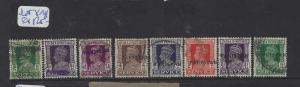 PAKISTAN (PP2302B) LOCAL HANDSTAMP  KGVI ON INDIA  8  DIFF   VFU   LOT 2