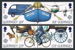 Guernsey 381-384a,MNH.Michel 417-420. EUROPE CEPT-1988.Communication,Transport.