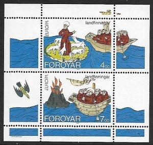 Faroe Islands # 265a - Voyages of St. Brendan - MS - MNH