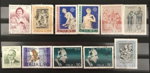 Italy 1974 #1131//42, Mint & Used Lot, 1 duplicate