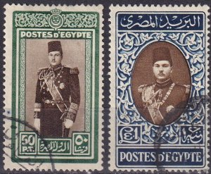 Egypt #239-40 F-VF Used CV $11.00 (Z9540)