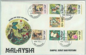 82304 - MALAYA  - FDC Cover 1971 + INFORMATION LEAFLET butterflies SELANGOR