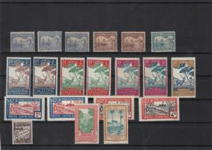 new caladonia niger oceania mounted mint stamps ref 10994