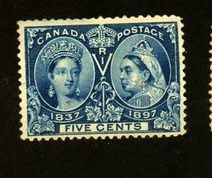 Canada #54 MINT F-VF OG HR Minor black marks on gum Cat $ 60.00