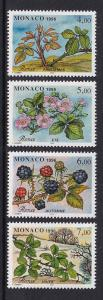 Monaco   #2010a-2010d     MNH  1996  life cycle of thorn tree (blackberry)