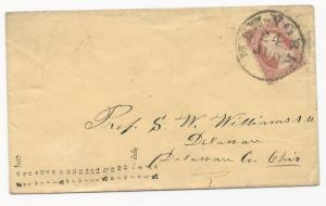 US 19th Century Cover Scott #26a SON Black CDS New York June 24, 1850's