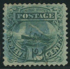 #117 12c 1869 VF+ USED WITH BLUE COLOR CANCEL BV2043