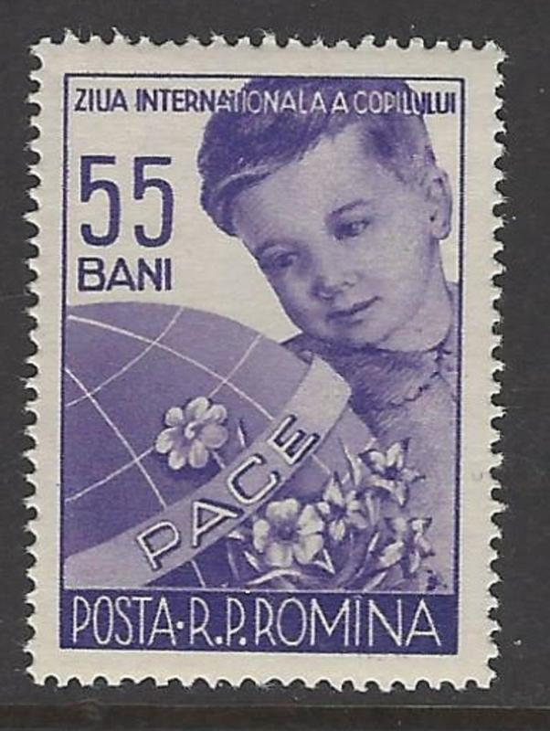 Romania 1956 Children's Day VF MNH (1095)