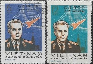 North Vietnam  1961 Gharman Titov Space Flight SC#  174-174 CTO