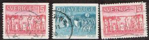 Sweden # 556 - 558 U