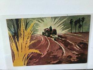 Burma vintage propaganda art postcard  Ref R28089