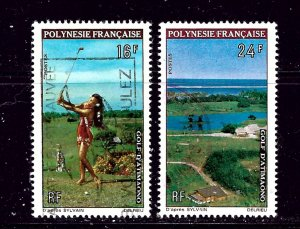 French Polynesia 275-76 Used 1964 Golf