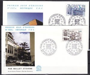 France, Scott cat. 2036-2037. Europa issue on 2 First day covers. ^