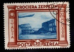 Dr.Tz Italy Scott C47 Used Zeppelin 1933 corner bend at upper right CV $800