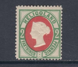 Heligoland Sc 15 MLH. 1875 2pf Queen Victoria, perf 14 reprint