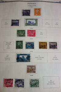 Tunisia Mint & Used Stamp Collection on Specialty Pages