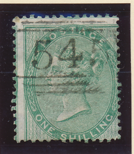 Great Britain Stamp Scott #28, Used, Shifted, Numeric Cancel - Free U.S. Ship...
