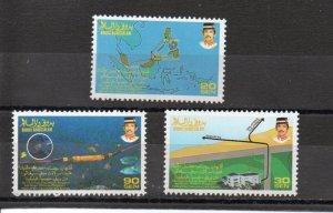Brunei 439-441 MNH