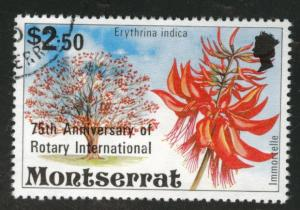 Montserrat Scott 420 used 1980 Rotary Intl overprint CV$.90