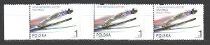 Poland. 2001. 3878-80. Jumping springboard sport. MNH.