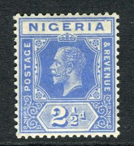 NIGERIA; 1912 early GV Crown CA issue fine Mint hinged Shade of 2.5d. value