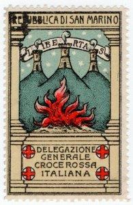 (I.B-CKK) San Marino Cinderella : Red Cross Charity Stamp