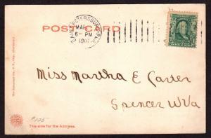 $Florida Machine Cancel Cover, Saint Petersburg, 3/xx/1907, only recorded imp.