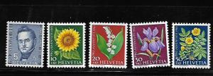 SWITZERLAND B308-B312 MNH C/SET 1960 ISSUE