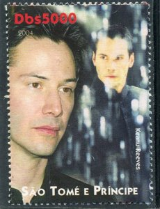Sao Tome & Principe 2004 KEANU REEVES Canadian Actor 1v Perforated Mint (NH)