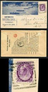 Canada SG153 2c dull purple on illustrated advertising envelope
