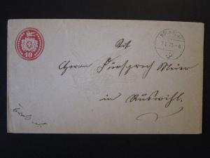 Switzerland 1875 10c Postal Stationery Used / Dove Smk - Z4976