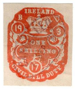 (I.B) George V Revenue : Ireland Civil Bill Duty 1/- (impressed duty)