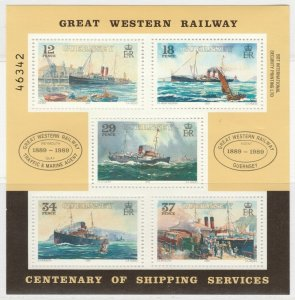 Guernsey 1989 Great Western Railway Steamer Service MNH** Sheet X299