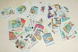 TAIWAN  FAIRY TALES STAMPS 42 DIFF. MINT LIGHT HINGED