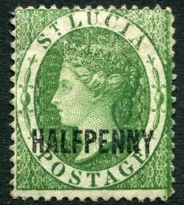 ST LUCIA-1882  ½d Green  Sg 25 LIGHTLY MOUNTED MINT V22016