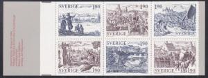 Sweden # 1513, Engravings by M. Karl, Complete Booklet, NH, 1/2 Cat