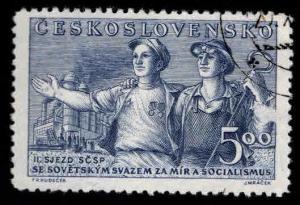 Czechoslovakia Scott 437 Used CTO 1950 stamp