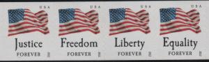 4633-4636 Four Flags Strip of 4 MNH