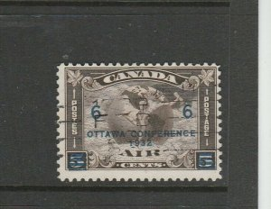 Canada 1932 Ottawa Conference 6c Opt AIr stamp, Used SG 318