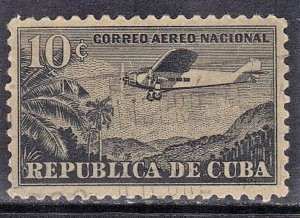 CUBA SC# C13  **USED** 1933-46  10c   AIRMAIL  SEE SCAN