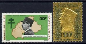 Upper Volta 1971 General De Gaulle Commmoration set of 2 ...