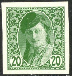 BOSNIA AND HERZEGOVINA 1913 20h BOSNIAN GIRL Newspaper Stamp Sc P4 MNH