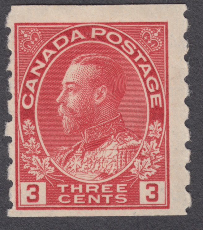 Canada - #130  King George V Admiral Coil - MHR