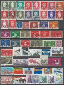 COLLECTION LOT OF #1136  NORWAY 59 STAMPS 1889+ CLEARANCE