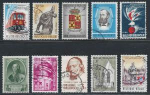 Belgium ~ Lot of 10 Different Stamps ~ Mixed Lot ~ cv 2.00
