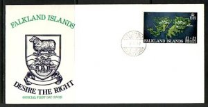 Falkland Is. Scott cat. B1. Conflict Over-Rebuilding. First day cover. ^