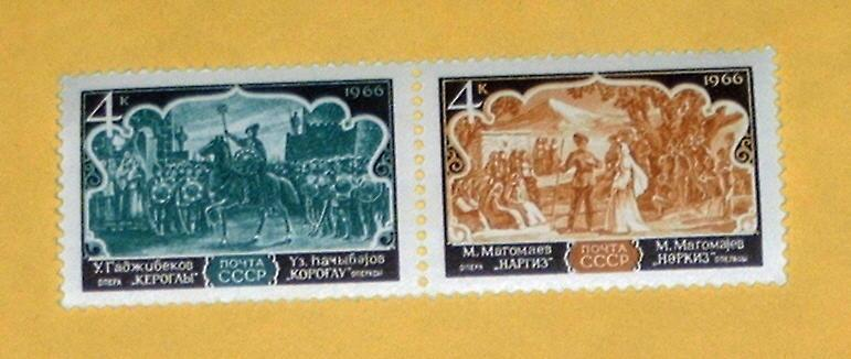 Russia - 3253-4a - Complete Pair, MNH - Opera. SCV - $1.50