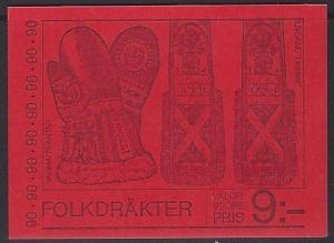 Sweden 1979 Ljusdal Costume Scott #1307a Booklet VF-NH
